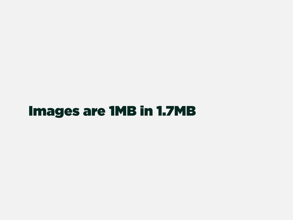 Images are 1MB in 1.7MB