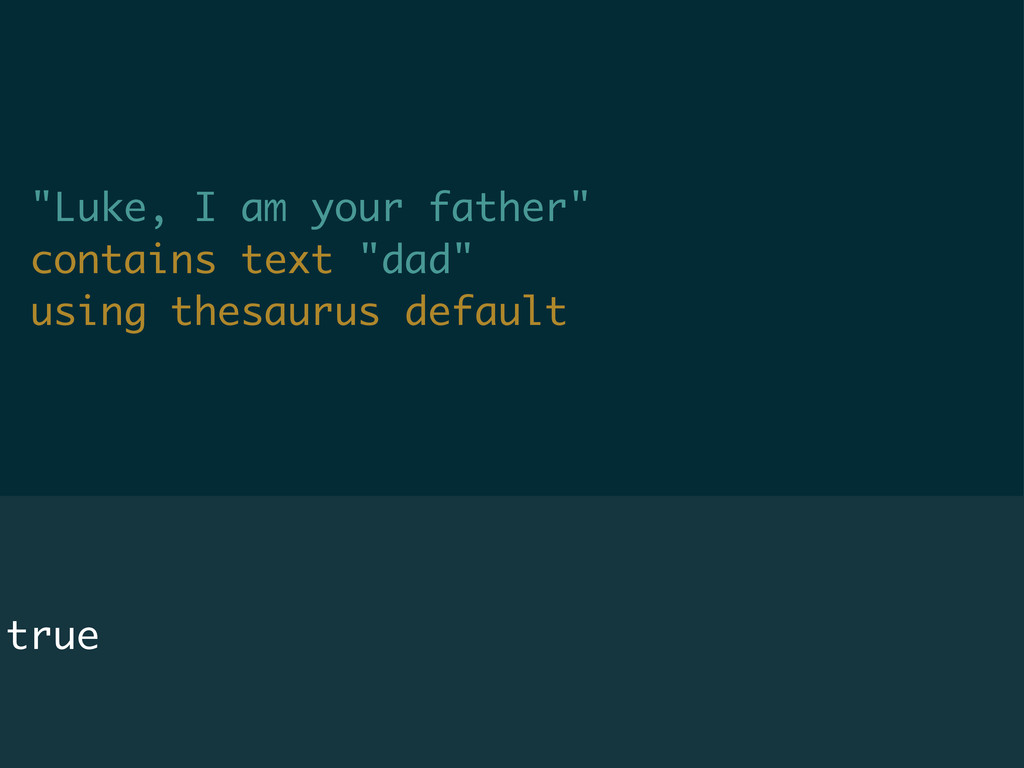 """Luke, I am your father"" contains text ""dad"" us..."