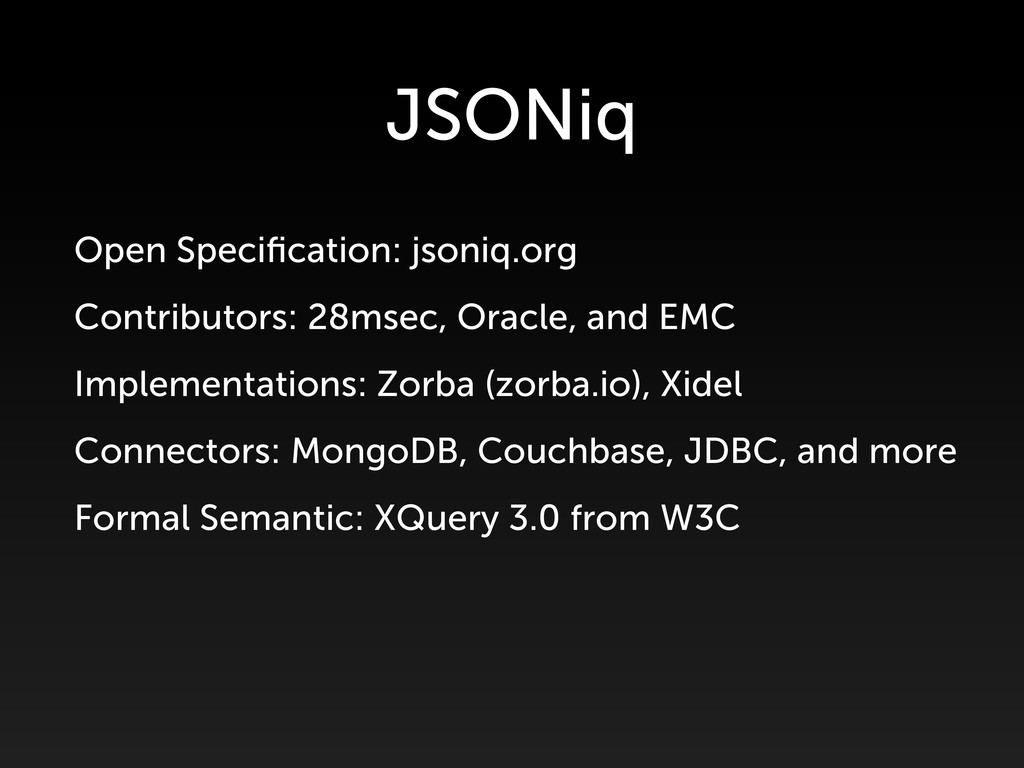 Open Specification: jsoniq.org Contributors: 28m...