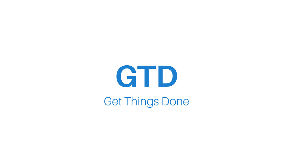 GTD