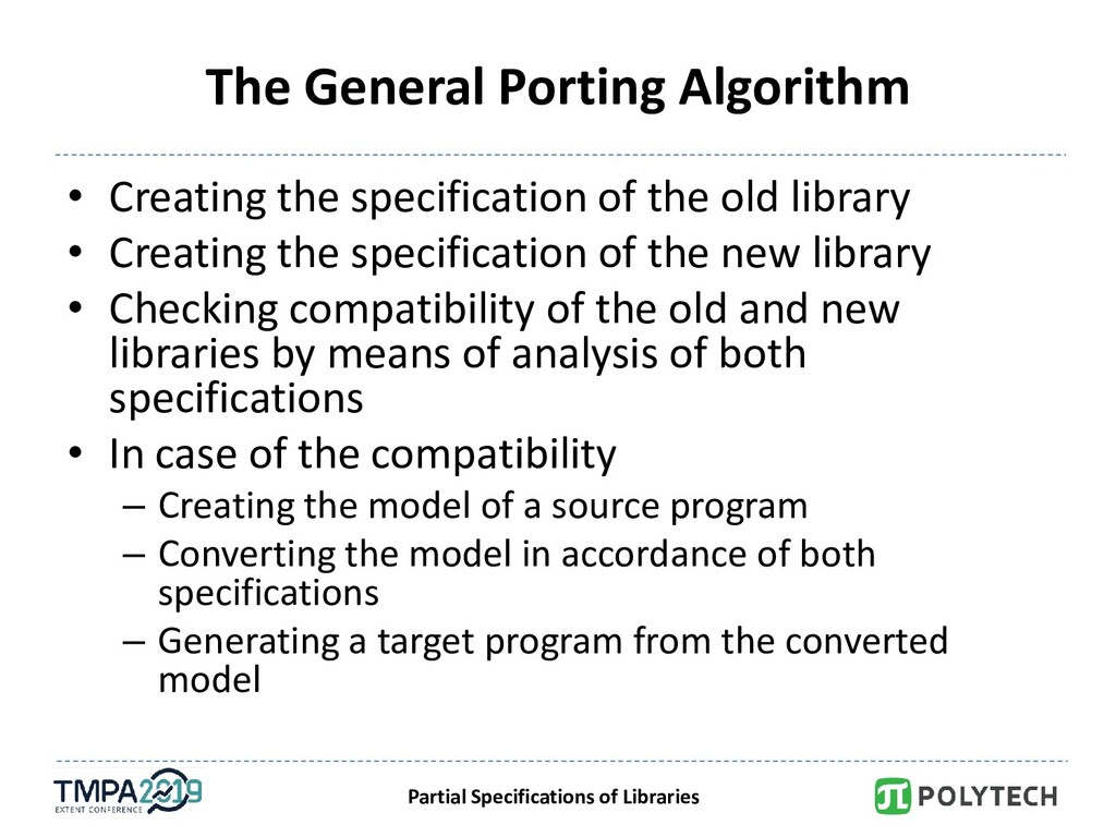 Partial Specifications of Libraries The General...