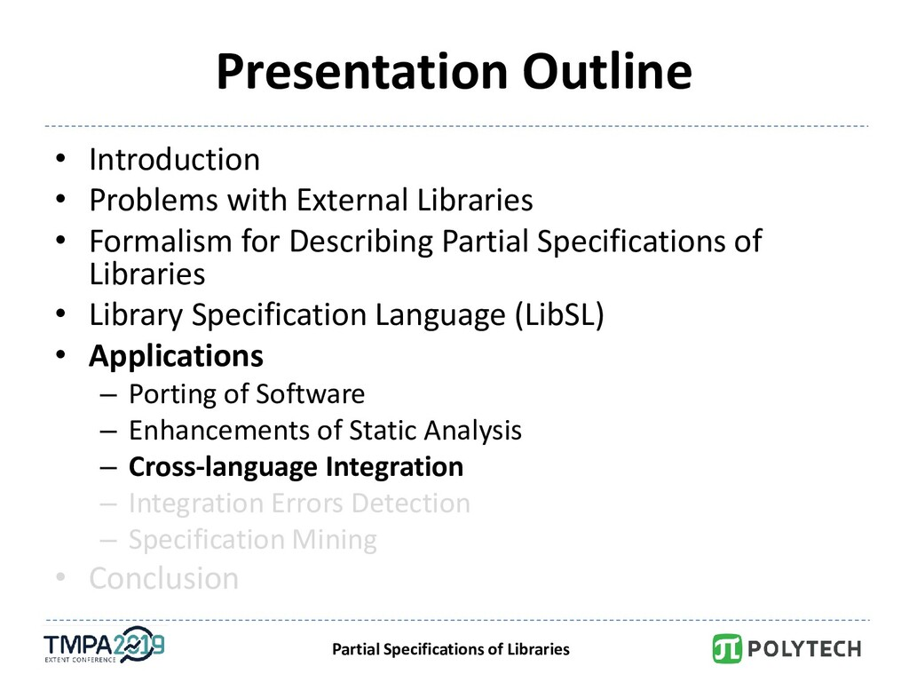 Partial Specifications of Libraries Presentatio...