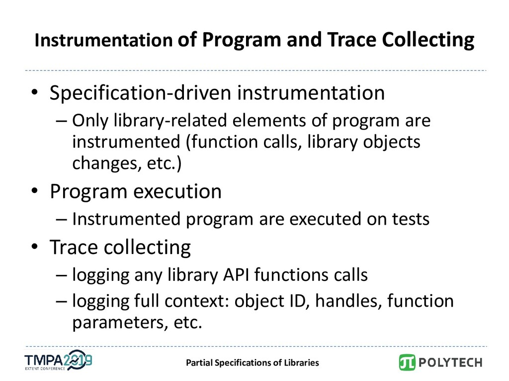 Partial Specifications of Libraries Instrumenta...