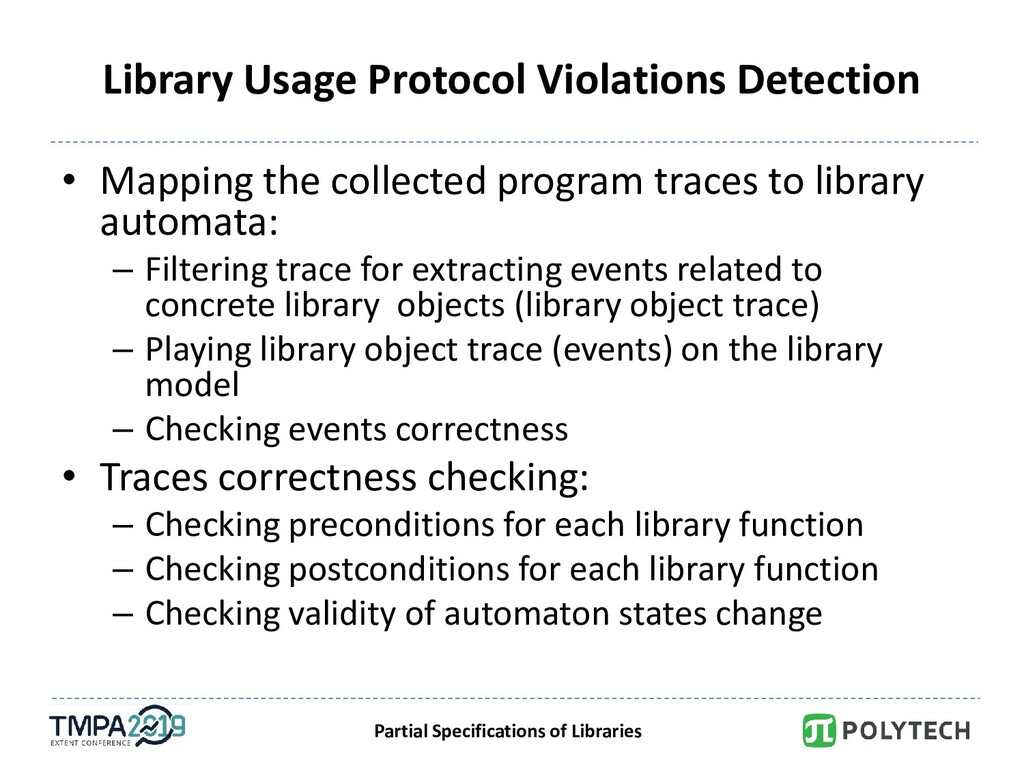 Partial Specifications of Libraries Library Usa...