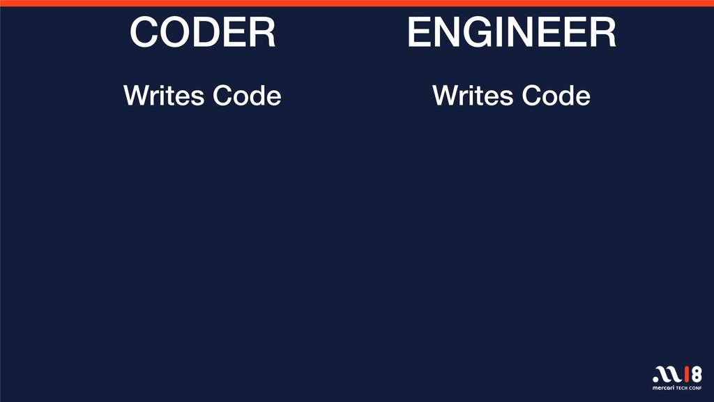 ENGINEER CODER Writes Code Writes Code