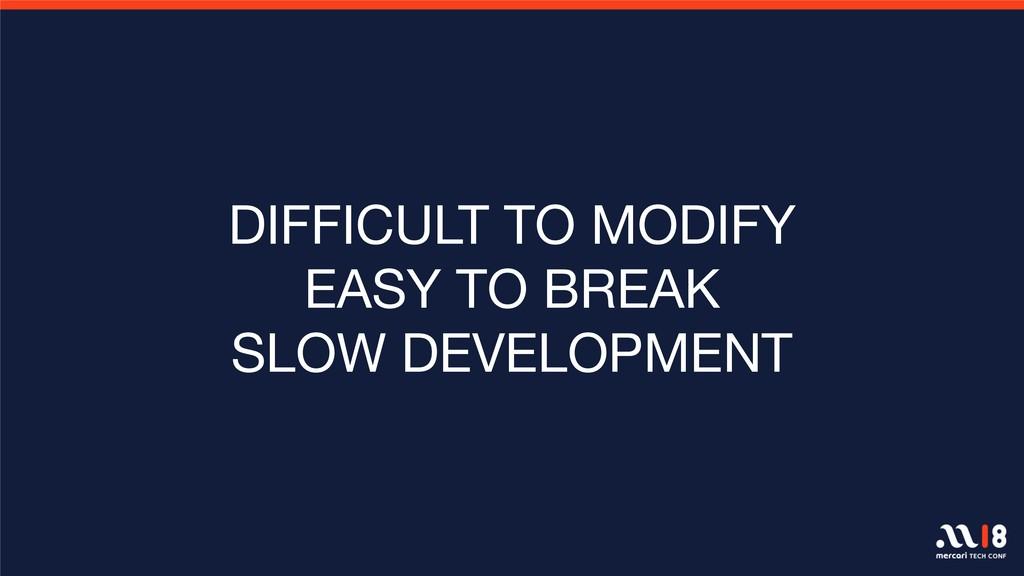 DIFFICULT TO MODIFY EASY TO BREAK SLOW DEVELOPM...