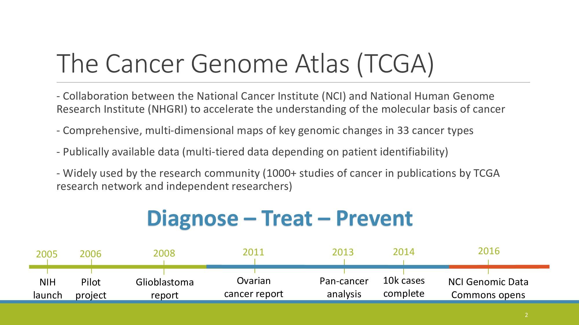 The Cancer Genome Atlas (TCGA) - Collaboration ...