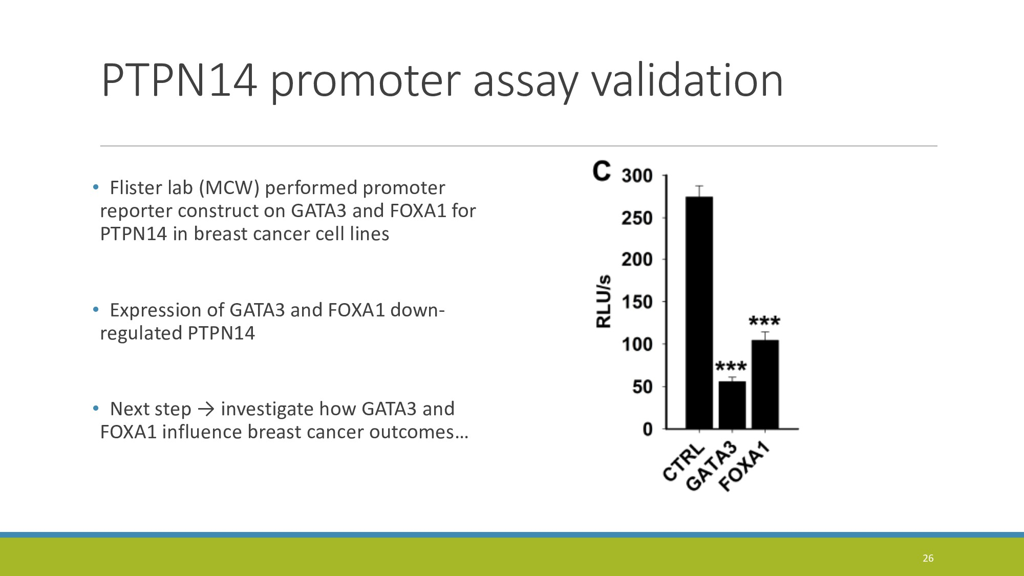 PTPN14 promoter assay validation • Flister lab ...