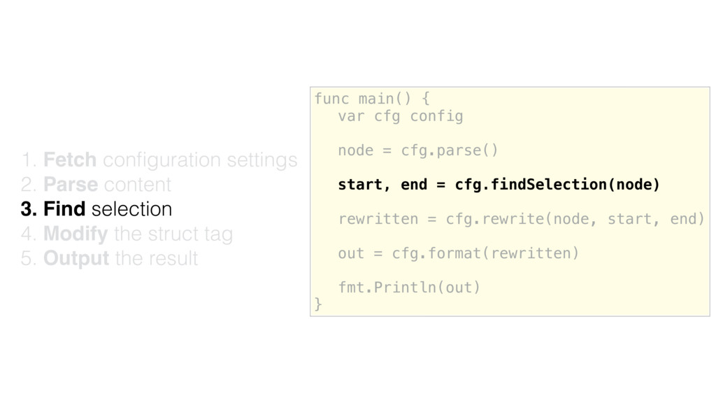 func main() { var cfg config node = cfg.parse()...