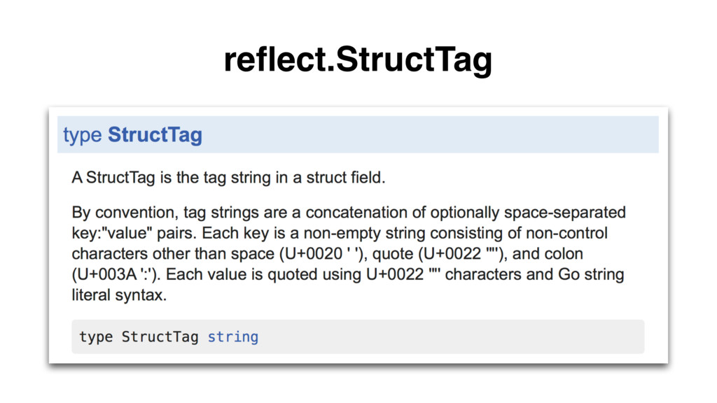 reflect.StructTag