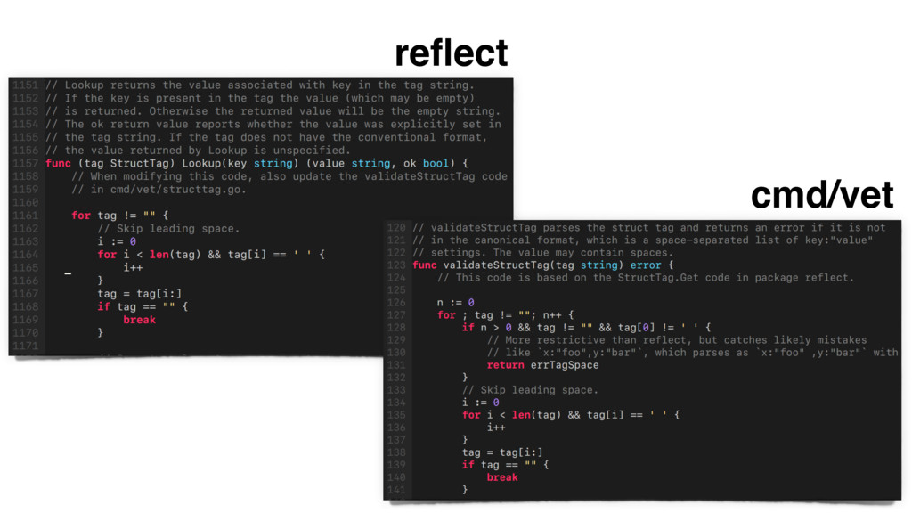 reflect cmd/vet