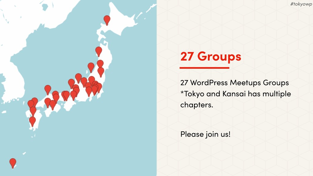 27 Groups 27 WordPress Meetups Groups *Tokyo an...