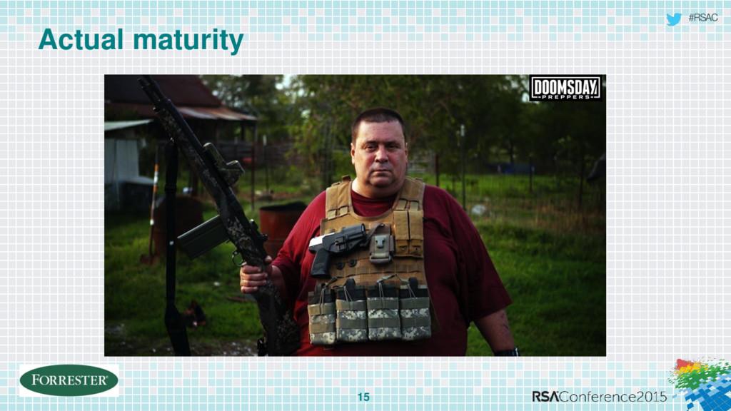 #RSAC Actual maturity 15