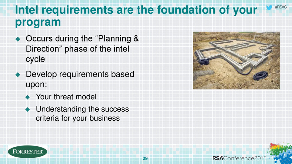 #RSAC Intel requirements are the foundation of ...