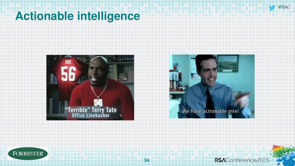 #RSAC Actionable intelligence 34