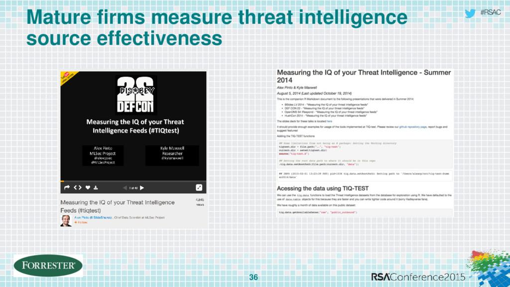 #RSAC Mature firms measure threat intelligence ...