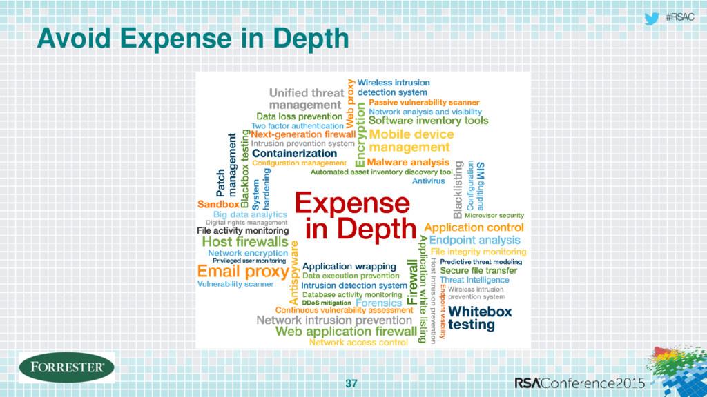 #RSAC Avoid Expense in Depth 37