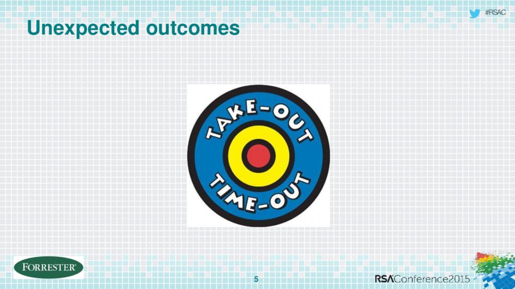 #RSAC Unexpected outcomes 5