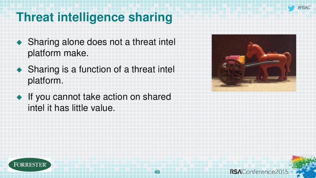 #RSAC Threat intelligence sharing 48  Sharing ...