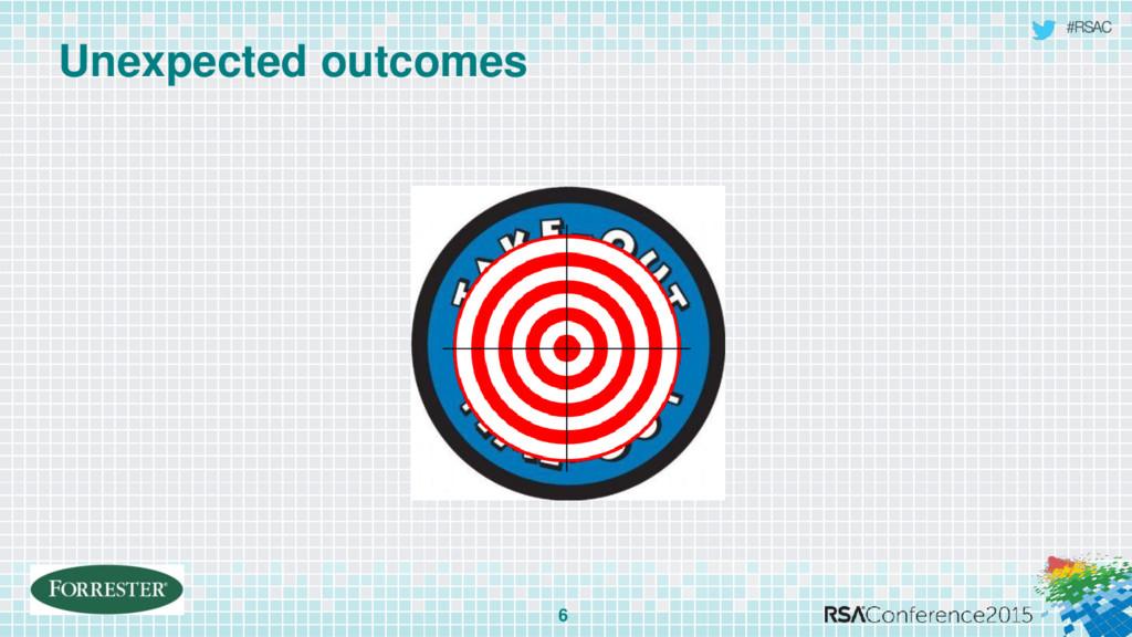 #RSAC Unexpected outcomes 6