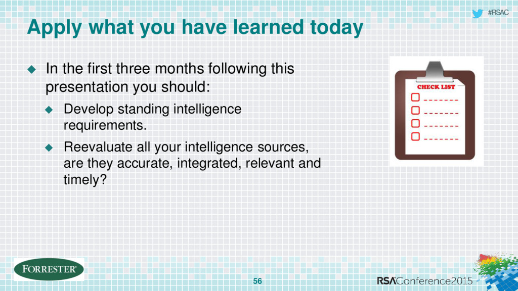 #RSAC  In the first three months following thi...