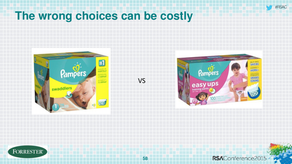 #RSAC The wrong choices can be costly 58 VS