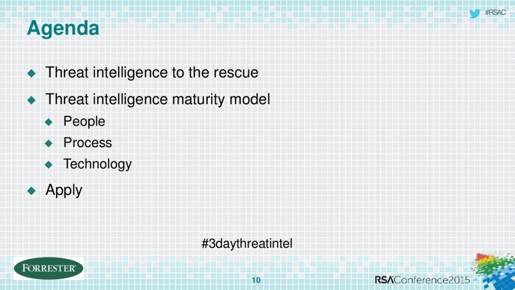 #RSAC Agenda  Threat intelligence to the rescu...