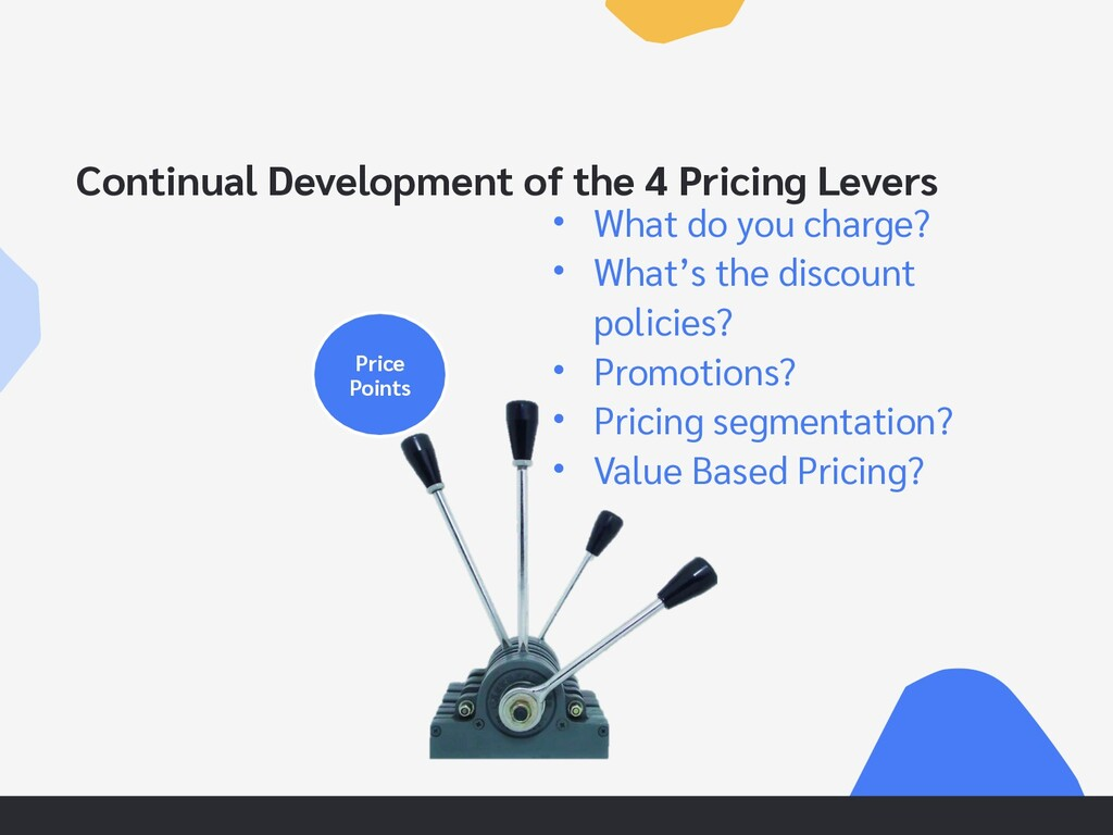 Continual Development of the 4 Pricing Levers P...