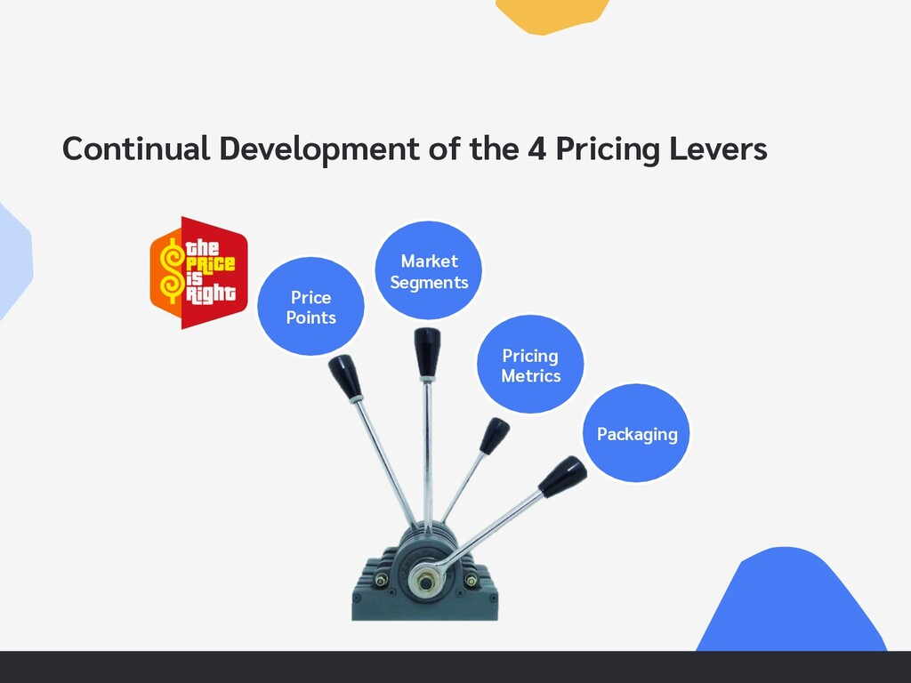 Continual Development of the 4 Pricing Levers M...