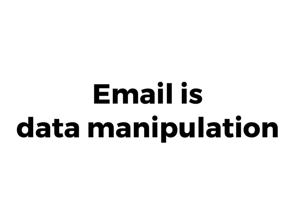 Email is