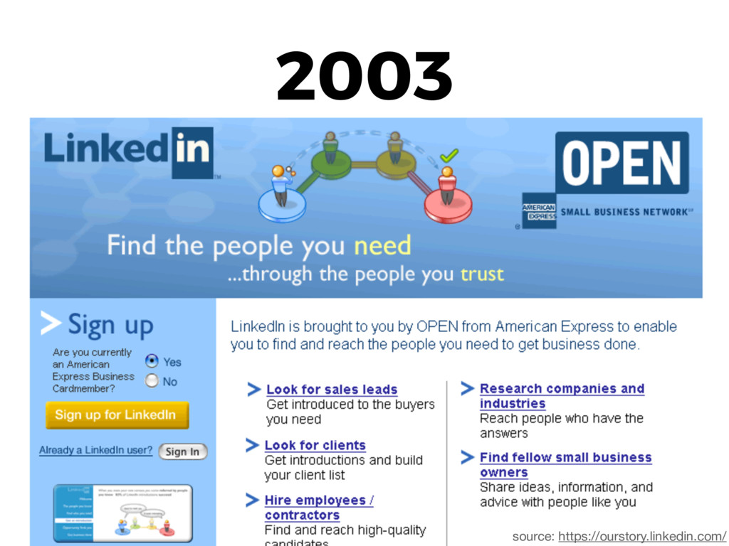 2003 source: https://ourstory.linkedin.com/