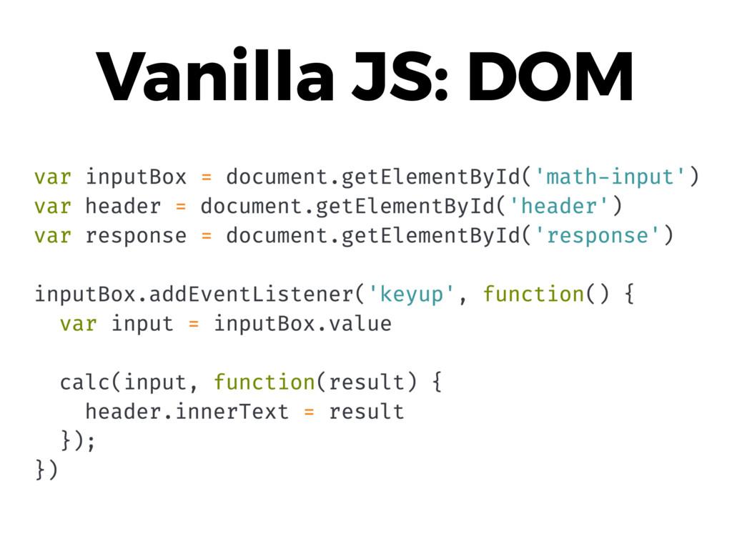 Vanilla JS: DOM