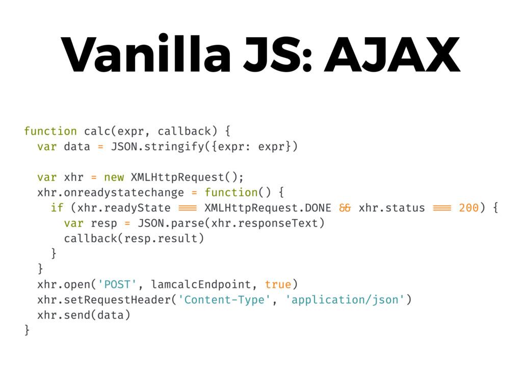 Vanilla JS: AJAX