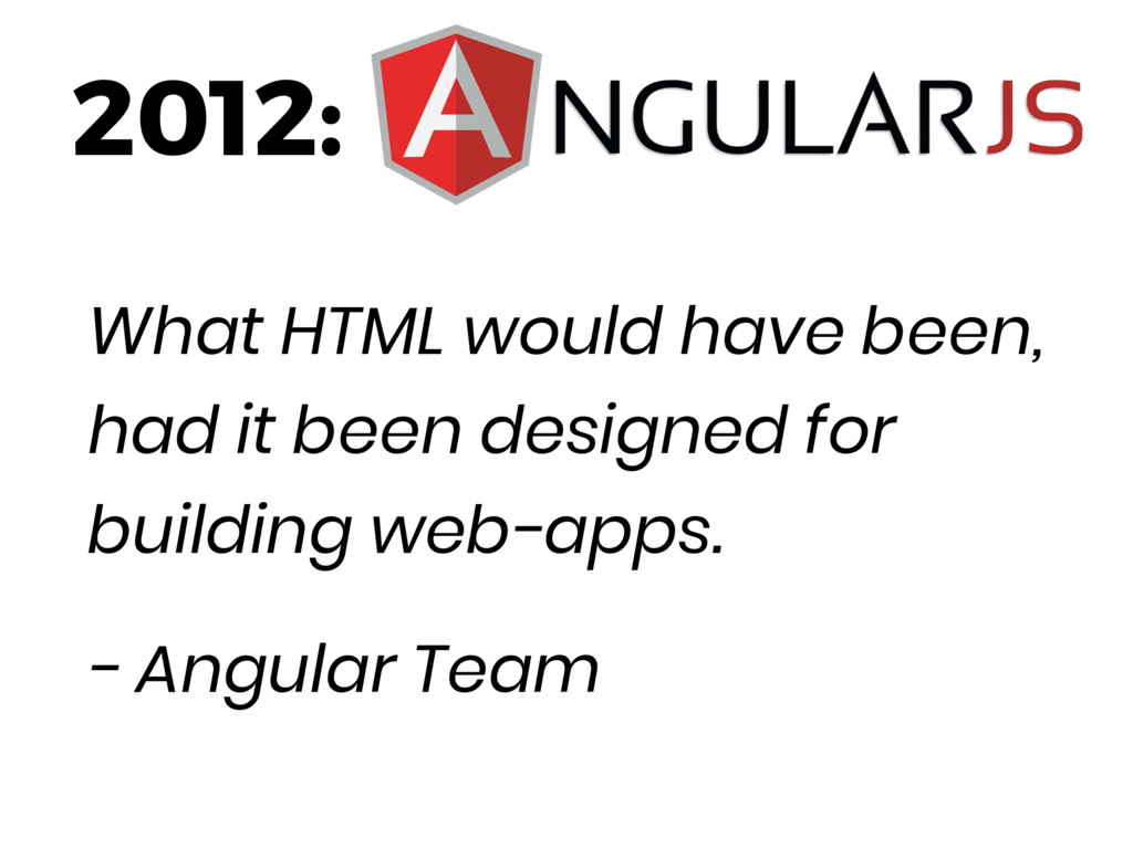 2012: What HTML would have been, had it been de...