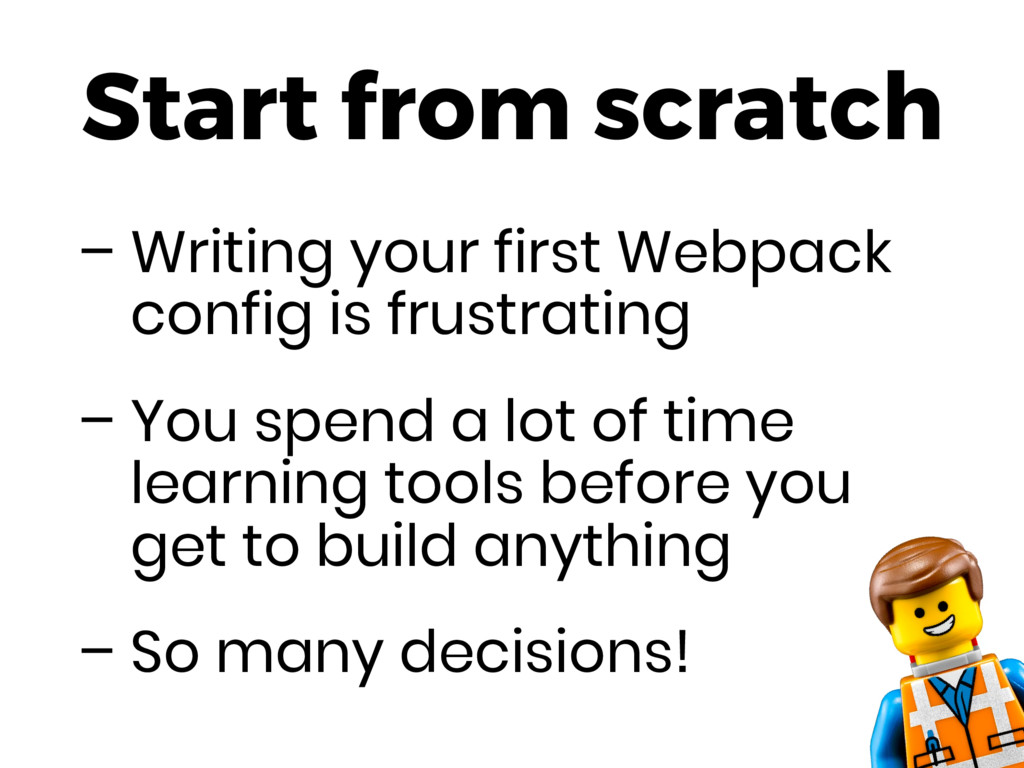 Start from scratch – Writing your first Webpack...