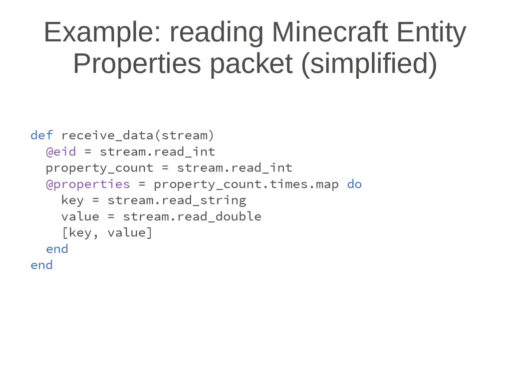 Example: reading Minecraft Entity Properties pa...
