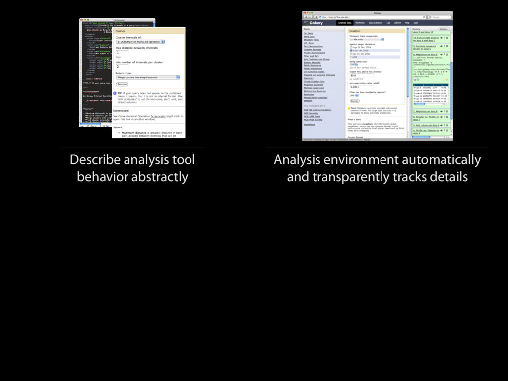 Describe analysis tool behavior abstractly Anal...