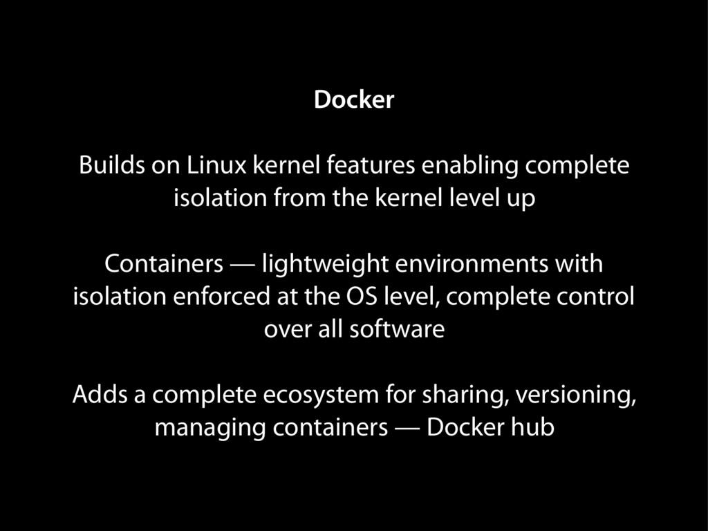 Docker Builds on Linux kernel features enabling...