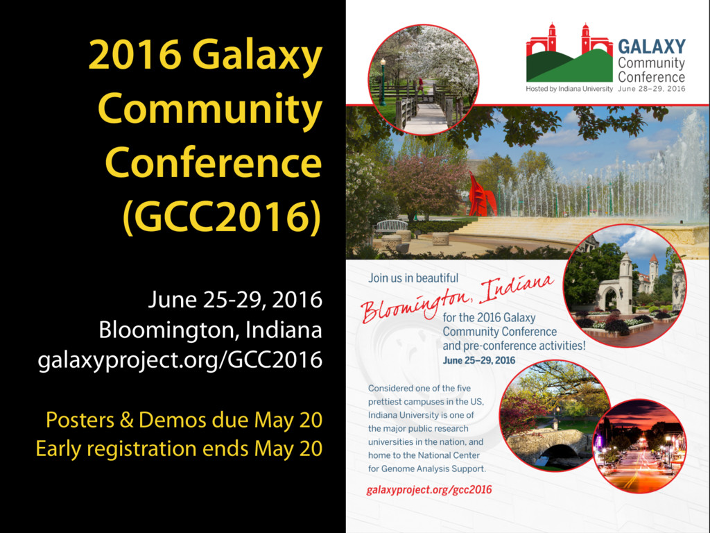2016 Galaxy Community Conference (GCC2016) June...