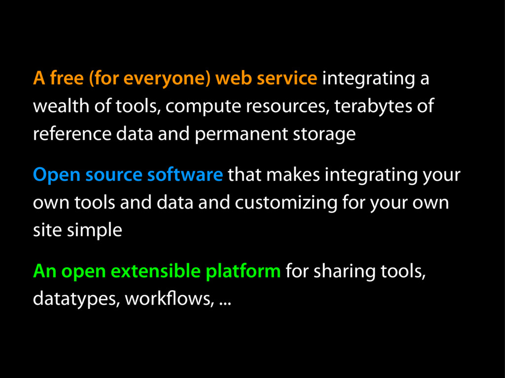 A free (for everyone) web service integrating a...
