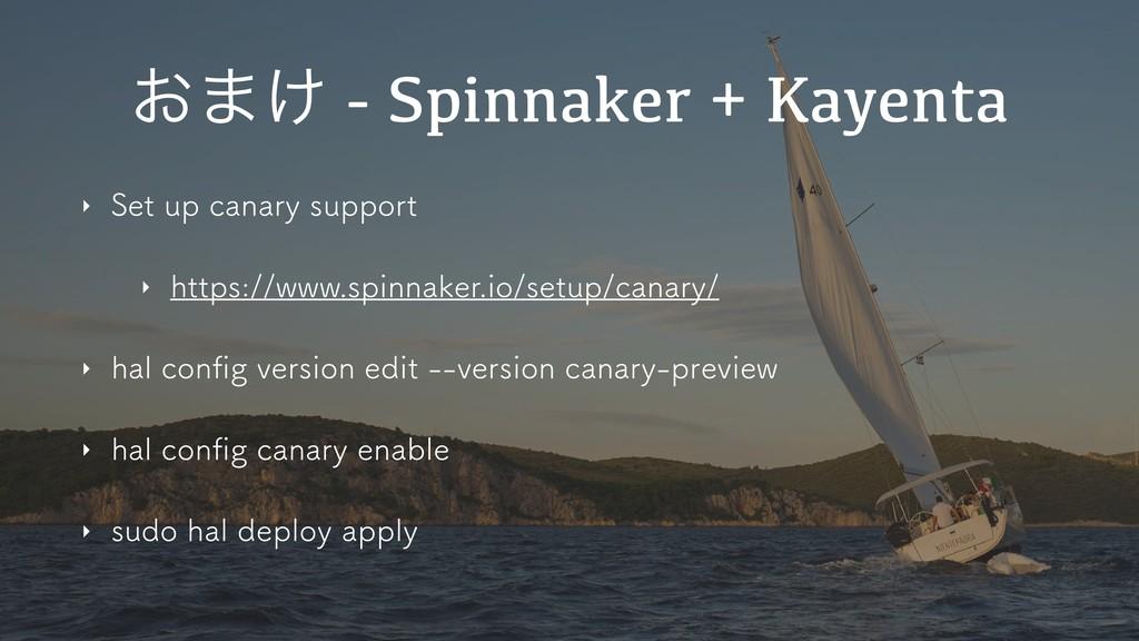 ͓·͚ - Spinnaker + Kayenta ‣ 4FUVQDBOBSZTVQQP...