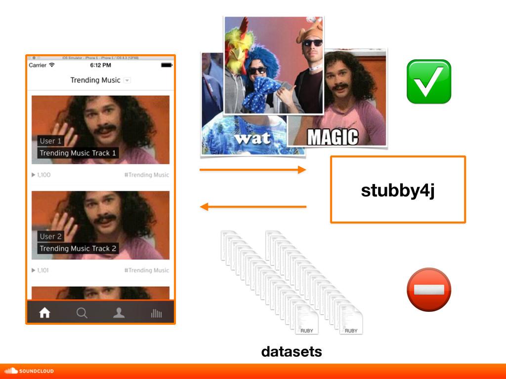 stubby4j ✅ ⛔ datasets