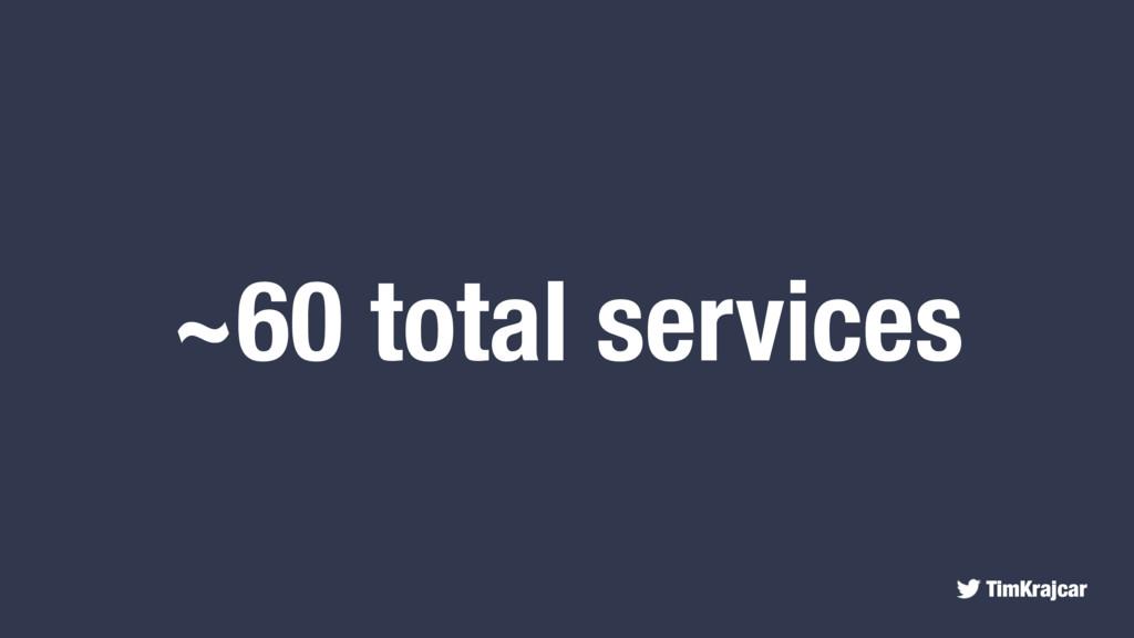 TimKrajcar ~60 total services
