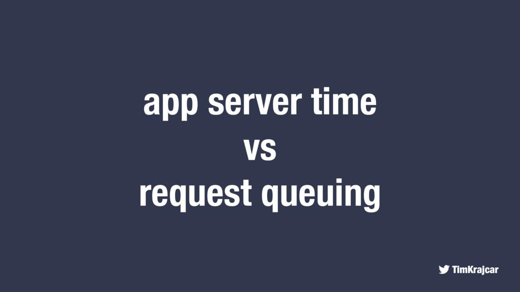 TimKrajcar app server time vs request queuing