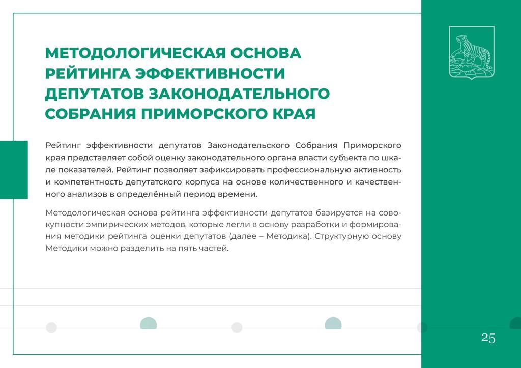 25 МЕТОДОЛОГИЧЕСКАЯ ОСНОВА РЕЙТИНГА ЭФФЕКТИВНОС...