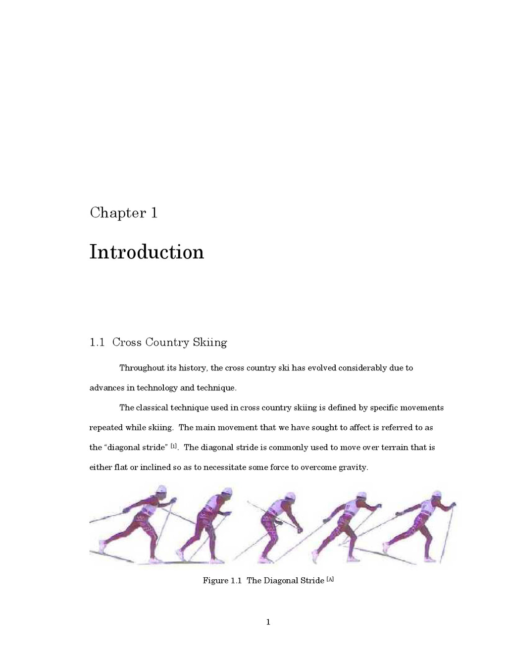 1 Chapter 1 Introduction 1.1 Cross Country Skii...
