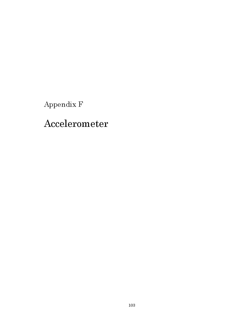 103 Appendix F Accelerometer