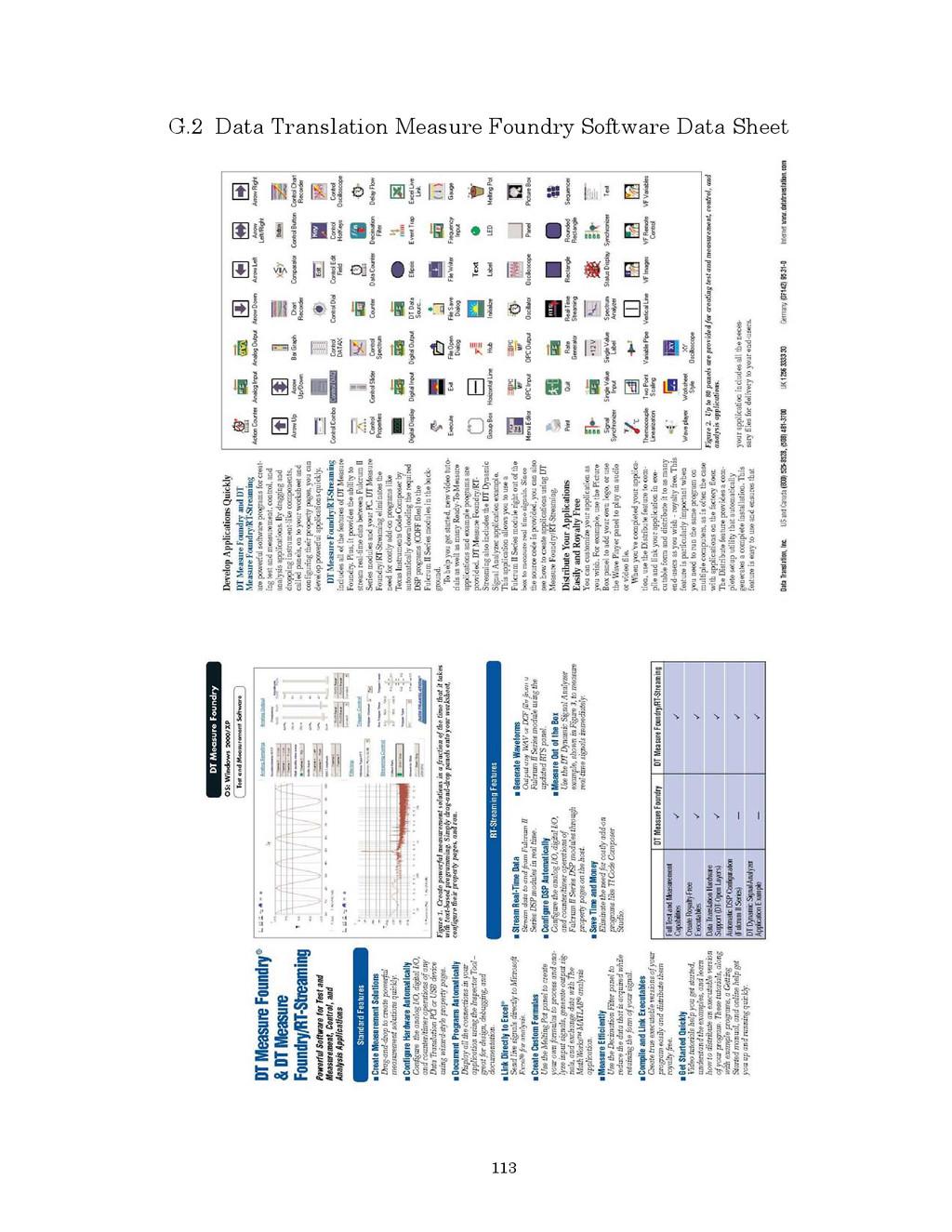 113 G.2 Data Translation Measure Foundry Softwa...