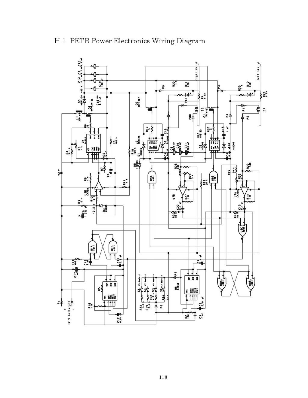 118 H.1 PETB Power Electronics Wiring Diagram