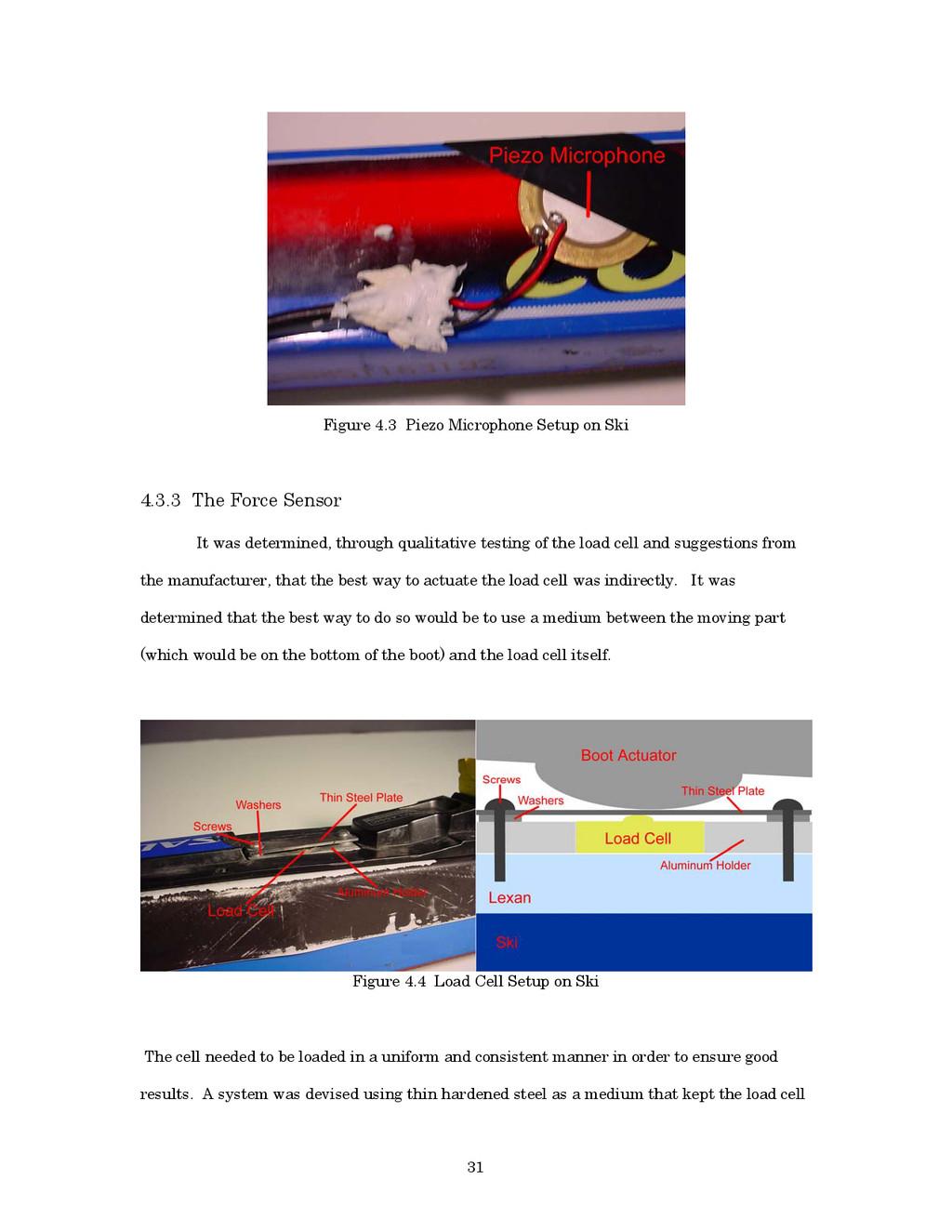 31 Figure 4.3 Piezo Microphone Setup on Ski 4.3...